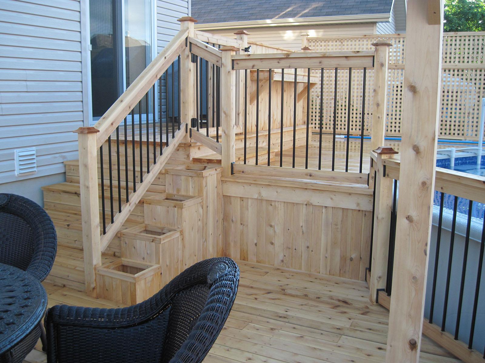 Patio, pergola et clôtures de bois exemple 3