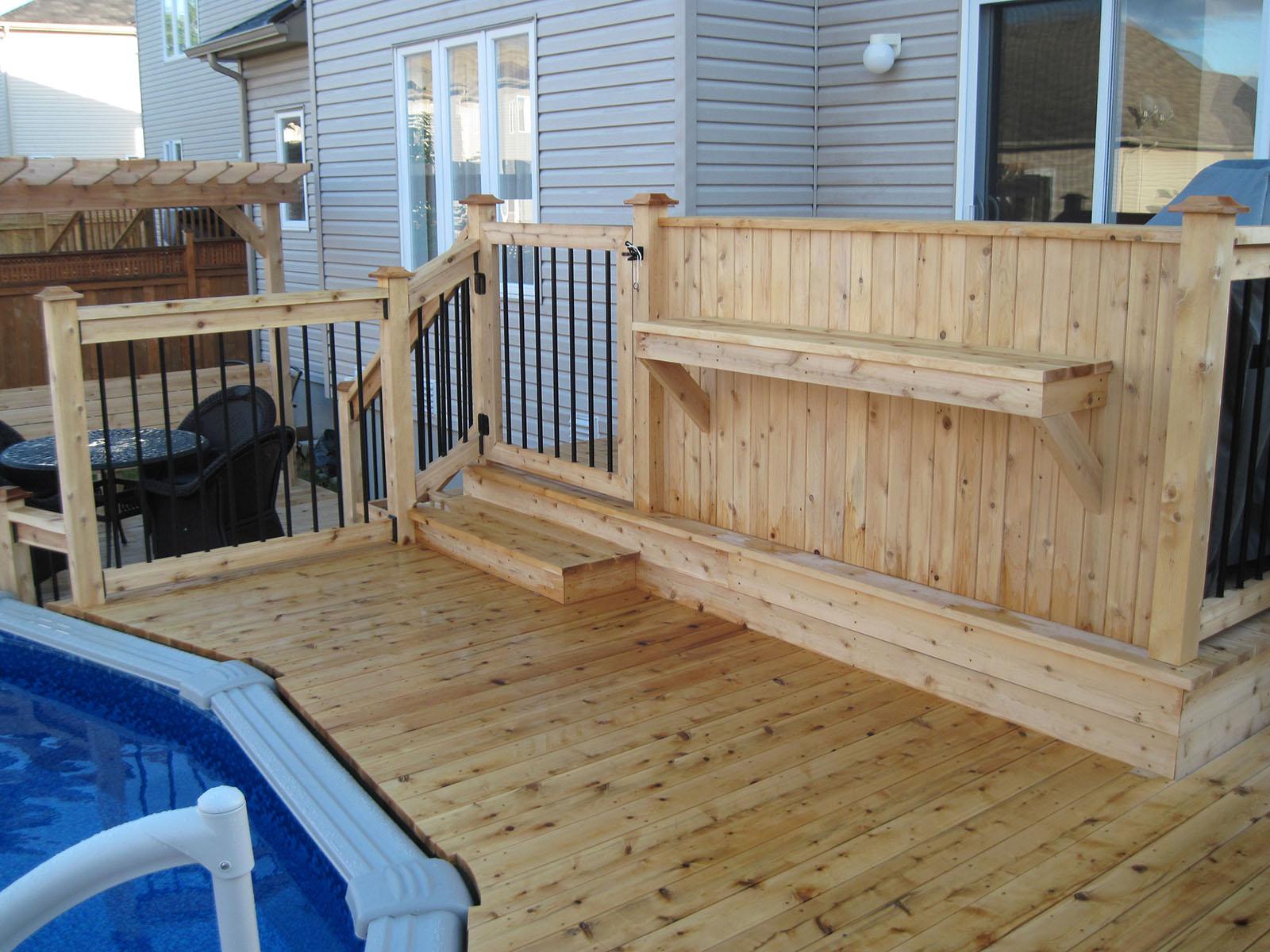 Patio, pergola et clôtures de bois exemple 4