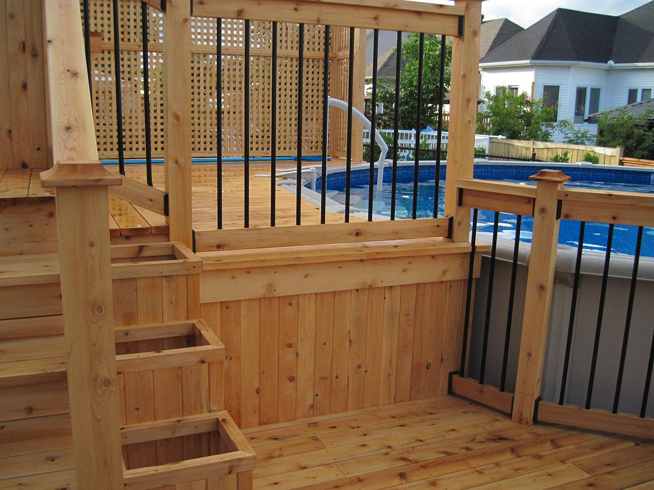 Patio, pergola et clôtures de bois exemple 5