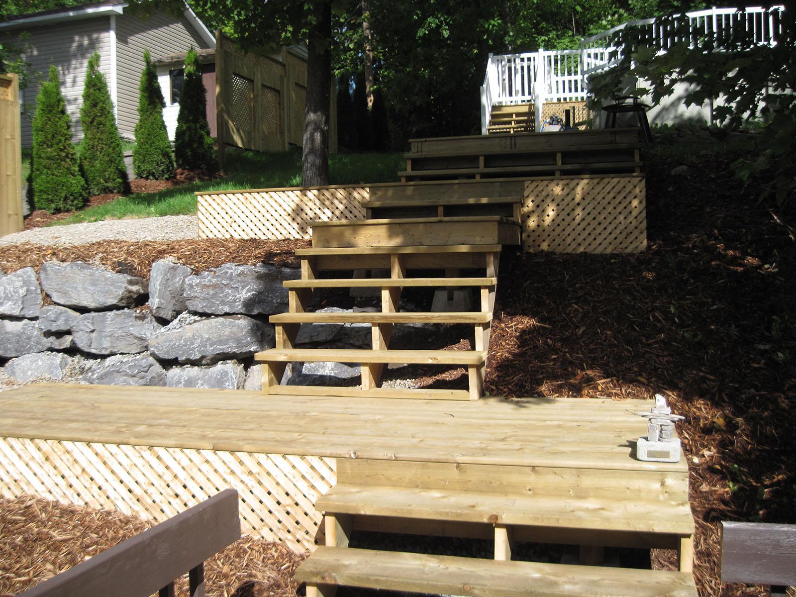 Patio, pergola et clôtures de bois exemple 6