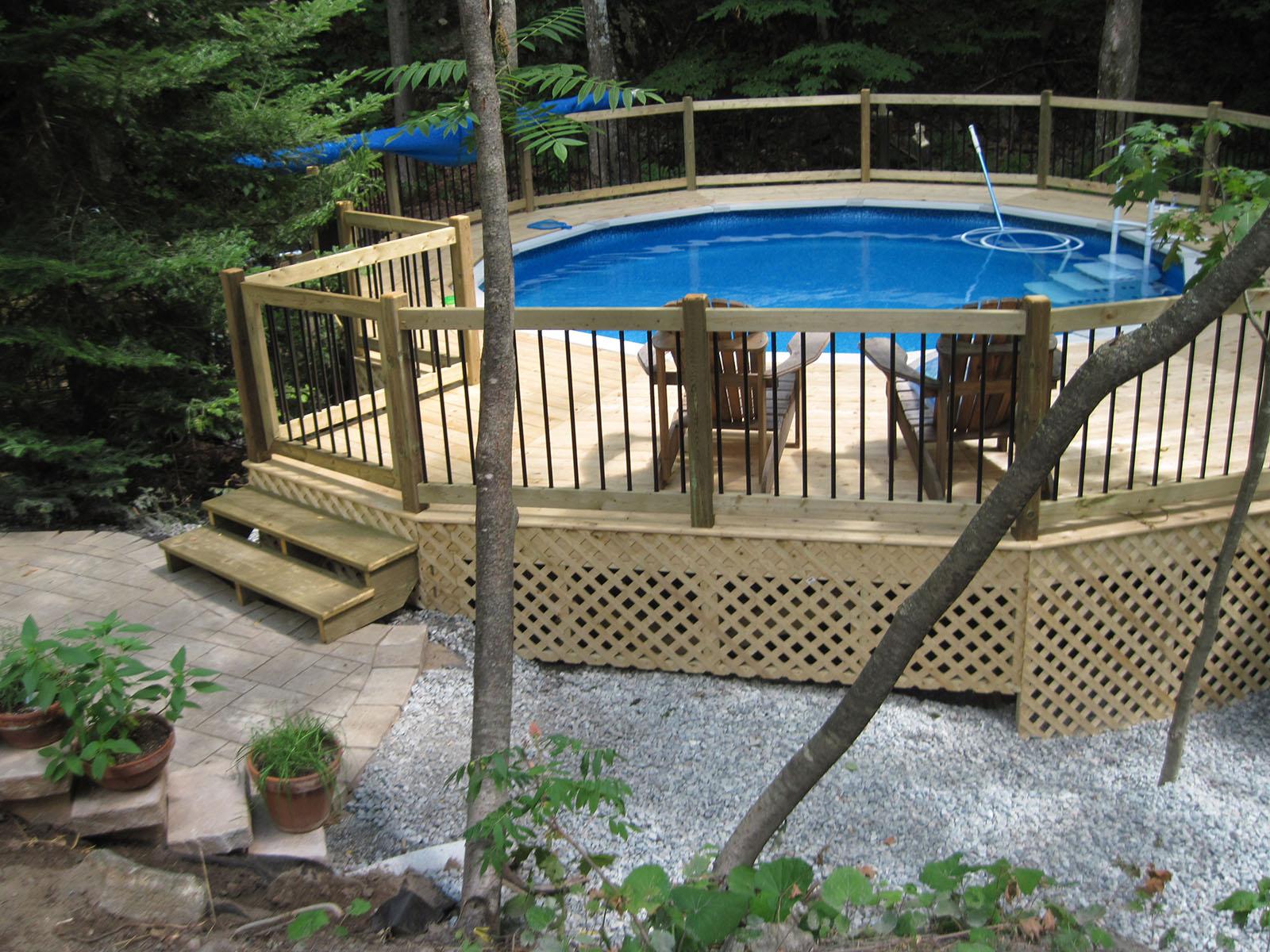 Patio, pergola et clôtures de bois exemple 7