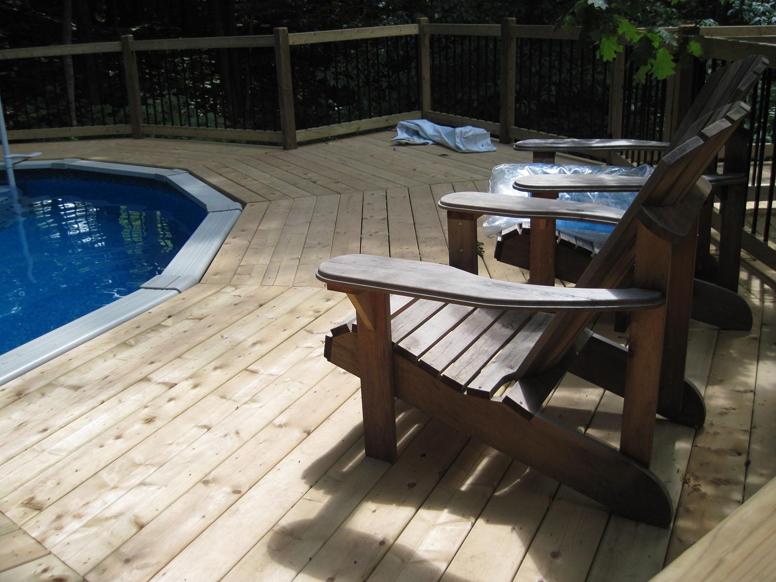 Patio, pergola et clôtures de bois exemple 8